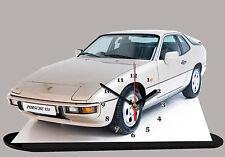 MODEL CARS, PORSCHE 924-05, car passenger,11,8x 7,8 inches  with Clock