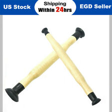 Wooden Handles Valve Hand Lapping Grinding Tool Suction Cup Lap Sticks US Stock