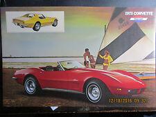 NOS corvette authentic dealer literature 1973 chevy original rare  stingray v8