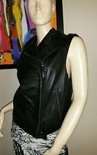 Ladies Preston & York Leather Vest  Size L NWT