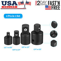"""3//8/"""" /& 1//2/"""" Drive Drop Forged CrV 3 Piece Universal Joint Set With Spring 1//4/"""""""