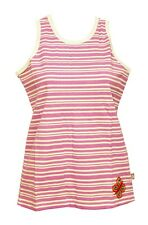 Girls Lilac Purple White Butterfly Stripe Cotton Sleeveless Top T-shirt 3-4 Years