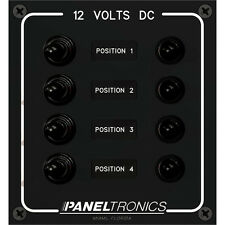 Paneltronics 4-Position Toggle Switch Waterproof 12V DC Circuit Breaker Panel