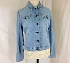 Womens LEVIS Jeans Trucker Jacket Med 8 10 Button up Blue Denim