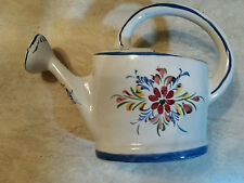 SIGNED Vintage Hand Painted PORTUGAL Ceramic Watering Can