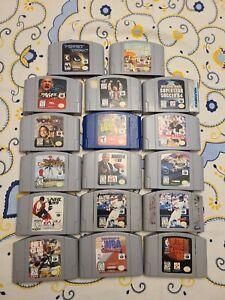 Lot of 17 Nintendo N64 games TESTED & WORKING Perfect dark star wars NWO WWF NFL