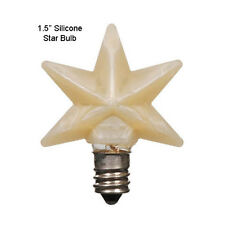 "1.5"" Warm Silicone Star Bulb w/Replaceable 3 Watt Candelabra Bulb ~ Made in USA"