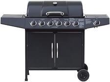El Fuego Gasgrill Dayton Smoker Grill Grillwagen schwarz 6 + 1 Brenner AY 4601