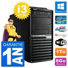 PC Tour Acer Veriton M4630G Intel i3-4130 RAM 8Go Disque Dur 1To Windows 10 Wifi