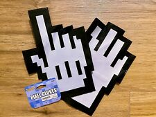 Spirit Halloween Pixel Gloves Costume Accessory. New with Tags.