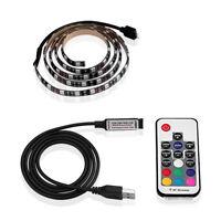 LED USB Backlight TV Hintergrund-Beleuchtung Licht-Band Stripes Streifen RGB 2M