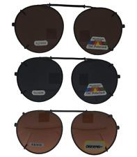 2c847c5dc7 Clip On Sunglasses For Glasses Round Frame Polarize Drive Amber Lenses USA  Stock