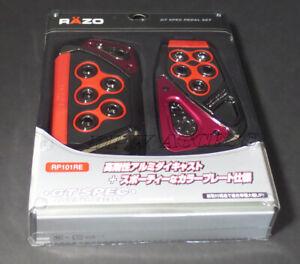 Red Razo GT Spec Small Pedals Set Aluminum Alloy Auto Universal Car AT 2 PCS JDM