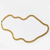 "Real 10K Yellow Gold 24"" Inch 7mm Width Herringbone  Necklace, Chain Men/Women N"