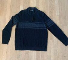 Vince Mens Zip Mock Neck Wool & Cashmere Blend Sweater. Sz L. SUPER SALE $80
