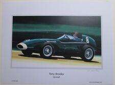 POSTER ARTWORK PRINT / DESSINS F1 VANWALL BROOKS  30 x 40 cm by CLOVIS