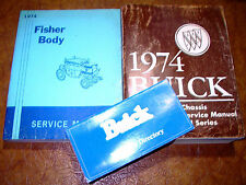 1974 74 Buick Service Repair Shop Manual Set w/ Body Manual GM OEM All Series