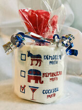 Political Party Embroidered Toilet Paper Decoration. Party Support!