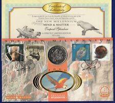 Liberia 1996 Preserve Planet Earth Parrot Dollar Coin Cover + COA (Ref. t2291)