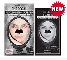 2 PK 20 Strips $12 CHARCOAL DEEP CLEANSING NOSE PORE STRIP Dearderm