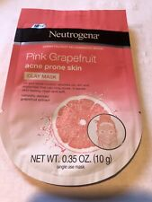 2 NEW Neutrogena Pink Grapefruit Acne Prone Skin Clay Face Mask- rinse off mask