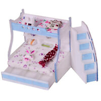MagiDeal 1/12 Dollhouse Miniature Furniture Children Bunk Bed Bedroom Decor
