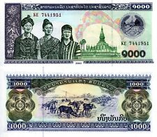 Laos 1000 Kip Banknote World Paper Money Unc Currency p32Ab Note Asia 2003 Bill