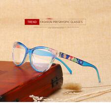 Cat Eye Reading Glasses Women Lightweight Presbyopic Reading  +1.00 Blue color