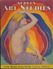 SCREEN ART STUDIES April 1930 Spicy Nude Figure Art Photos Magazine ART DECO vv