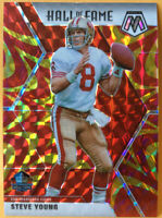 Steve Young Hall Of Fame Reactive Gold Prizm 291 Mosaic 2020