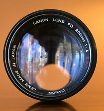 Canon FD 200mm f/4 S.S.C Lens