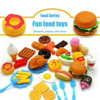 34pcs Kids Toy Pretend Role Play Kitchen Pizza Food Cutting Sets Children Gifts