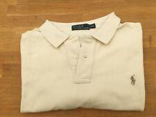 "Ralph Lauren cream polo shirt [size XXL, 29"" pit to pit]"