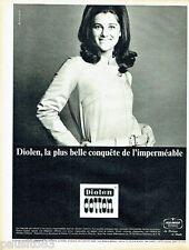 PUBLICITE ADVERTISING 066  1967  La Boutique de Sheila  imperméable Diolen Cott