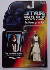 Star Wars POTF Ben Kenobi with Short Lightsaber Mint On Card Red  Vol. 1 1995