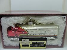 LIONEL BLOWN GLASS SANTA FE,  RARE,  1950 DIESEL LOCOMOTIVE, HALLMARK ORNAMENT