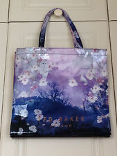 TED BAKER Misty Mountain Large Icon shopper tote bag purple blue bird asos BNWT