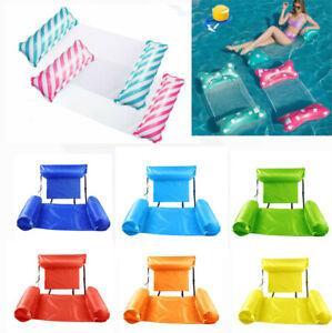 Wasserliege Wasserhängematte Luftmatratze Poolsitz Wasser Schwimmsessel Floating