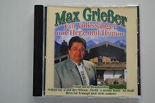 Max Grießer - Ein Volkssänger mit Herz und Humor - CD