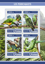 Guinea 2017 MNH Parrots Meyer's Senegal Parrot 4v M/S Perroquets Birds Stamps