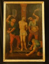 "ANTIQUE ITALIAN OIL PAINTING ON CANVAS ""RELIGIOUS SCENE"" c.a. 1700"
