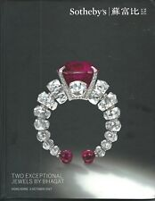 RARE - SOTHEBY'S HK TWO EXCEPTIONAL JEWELS by BHAGAT Auction Catalog 2017 HC