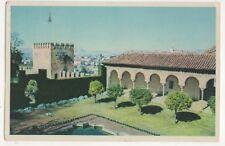 Granada Alhambra Patio y Galeria de Macbuca Spain 1954 Postcard 730b