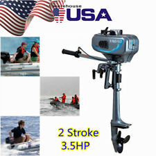 2 Stroke 3.5Hp Heavy Duty Outboard Motor Boat Engine w/Water Cooling System Usa