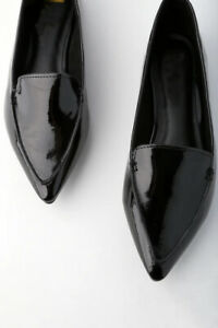 Heavendeer Women Black Patent Pointed Flats