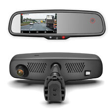 Rear View Mirror with DUAL CAMERA HD DVR Dash Cam with Microphone + Wifi App