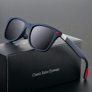 HD Polarized Sunglasses Men Retro Classic Square Outdoor Drving Eyewear Glasses