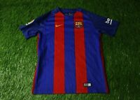 BARCELONA BARCA SPAIN 2016/2017 FOOTBALL SHIRT JERSEY HOME NIKE ORIGINAL YOUNG L