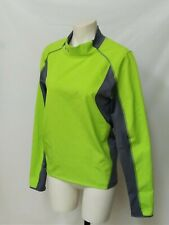 Under Armour Cold Gear Men's M mock turtleneck pullover lime green w/gray