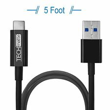 TechMatte USB 3.0 Type C to Type A (USB-C to USB) Cable (5 Feet, Black)
